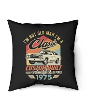 "Classic Car - 45 Years Old Matching Birthday Tee Indoor Pillow - 16"" x 16"" thumbnail"