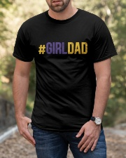 Girl Dad Father Of Daughter Father's Day Classic T-Shirt apparel-classic-tshirt-lifestyle-front-53