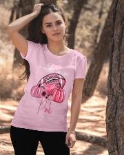 In October We Wear Pink Pumpkin Breast Cancer Ladies T-Shirt apparel-ladies-t-shirt-lifestyle-06