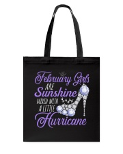 February Girls Are Sunshine Mixed With Hurricane Tote Bag thumbnail