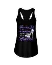 February Girls Are Sunshine Mixed With Hurricane Ladies Flowy Tank front