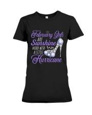 February Girls Are Sunshine Mixed With Hurricane Premium Fit Ladies Tee thumbnail