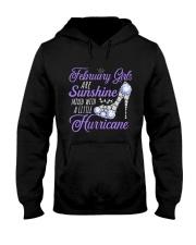 February Girls Are Sunshine Mixed With Hurricane Hooded Sweatshirt thumbnail