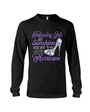 February Girls Are Sunshine Mixed With Hurricane Long Sleeve Tee thumbnail