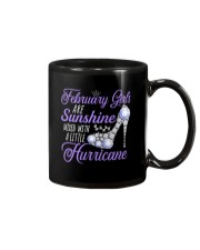February Girls Are Sunshine Mixed With Hurricane Mug thumbnail