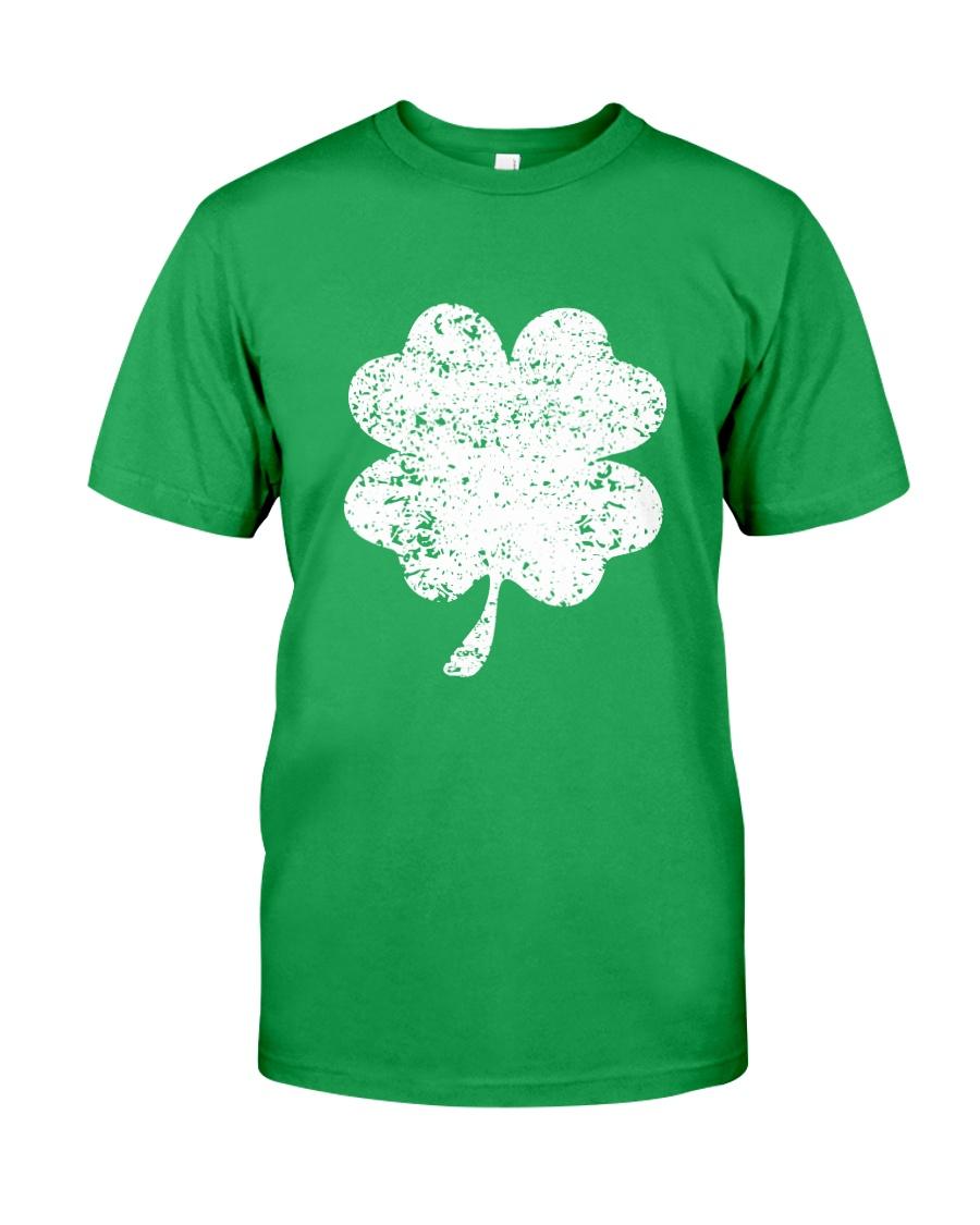 Vintage Irish Green Shamrock St Patrick's Day Classic T-Shirt