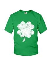 Vintage Irish Green Shamrock St Patrick's Day Youth T-Shirt thumbnail