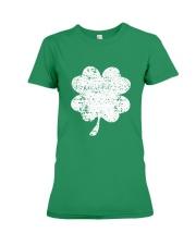 Vintage Irish Green Shamrock St Patrick's Day Premium Fit Ladies Tee thumbnail