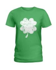 Vintage Irish Green Shamrock St Patrick's Day Ladies T-Shirt thumbnail