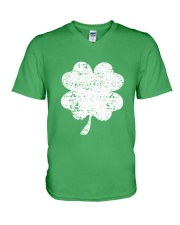 Vintage Irish Green Shamrock St Patrick's Day V-Neck T-Shirt thumbnail