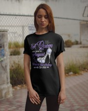 A Queen Was Born In August Happy Birthday  Classic T-Shirt apparel-classic-tshirt-lifestyle-18