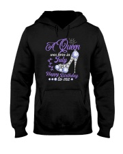 A Queen Was Born In July Happy Birthday to Me  Hooded Sweatshirt thumbnail