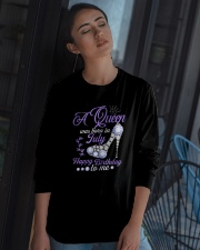 A Queen Was Born In July Happy Birthday to Me  Long Sleeve Tee apparel-long-sleeve-tee-lifestyle-05