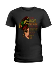 I'm A August Woman I Have 3 Sides Birthday Gift Ladies T-Shirt thumbnail