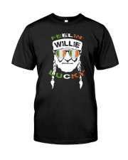 Feeling Willie Lucky Irish Flag St Patrick's Day Classic T-Shirt front
