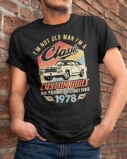 Classic Car - 42 Years Old Matching Birthday Tee  Classic T-Shirt apparel-classic-tshirt-lifestyle-26