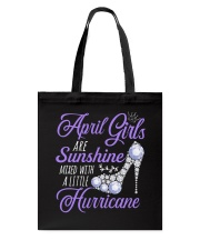 April Girls Are Sunshine Mixed With Hurricane Tote Bag thumbnail