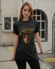 I'm A November Woman I Have 3 Sides Birthday Gift Classic T-Shirt apparel-classic-tshirt-lifestyle-19
