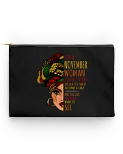 I'm A November Woman I Have 3 Sides Birthday Gift Accessory Pouch - Standard thumbnail