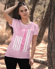 Breast Cancer Awareness American Flag Distressed Ladies T-Shirt apparel-ladies-t-shirt-lifestyle-06