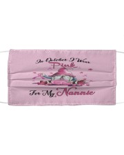 In October I Wear Pink For My Nannie Cloth face mask thumbnail
