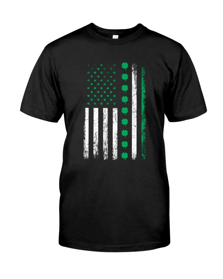St Patricks Day Irish American Flag Classic T-Shirt
