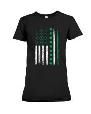 St Patricks Day Irish American Flag Premium Fit Ladies Tee thumbnail