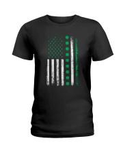 St Patricks Day Irish American Flag Ladies T-Shirt thumbnail