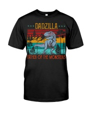 Dadzilla Father Of The Monsters Father's Gift Classic T-Shirt front