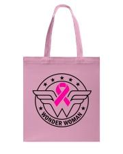 Superhero Wonder Woman Pink Ribbon Breast Cancer  Tote Bag thumbnail