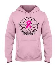 Superhero Wonder Woman Pink Ribbon Breast Cancer  Hooded Sweatshirt thumbnail
