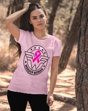 Superhero Wonder Woman Pink Ribbon Breast Cancer  Ladies T-Shirt apparel-ladies-t-shirt-lifestyle-06