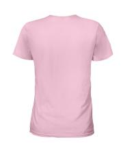 Superhero Wonder Woman Pink Ribbon Breast Cancer  Ladies T-Shirt back