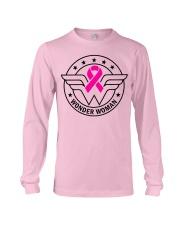Superhero Wonder Woman Pink Ribbon Breast Cancer  Long Sleeve Tee thumbnail
