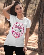 In October We Wear Pink Leaves Pumpkin Ribbon Ladies T-Shirt apparel-ladies-t-shirt-lifestyle-06