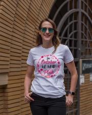 In October We Wear Pink Leaves Pumpkin Ribbon Ladies T-Shirt lifestyle-women-crewneck-front-2