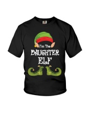 I'm The Daughter Elf Matching Family Christmas Youth T-Shirt front