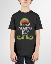 I'm The Daughter Elf Matching Family Christmas Youth T-Shirt garment-youth-tshirt-front-01