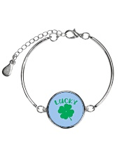 Lucky Shamrock  St Patrick's Day Accessories Metallic Circle Bracelet front