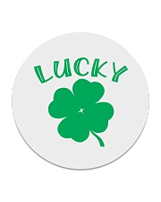 Lucky Shamrock  St Patrick's Day Accessories Circle Coaster thumbnail