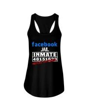 Funny Facebook Jail Inmate Social Media Jail  Ladies Flowy Tank thumbnail