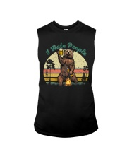 I Hate People Funny Bear Drinking Beer Camping  Sleeveless Tee thumbnail