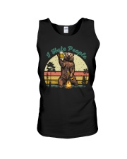 I Hate People Funny Bear Drinking Beer Camping  Unisex Tank thumbnail