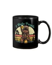I Hate People Funny Bear Drinking Beer Camping  Mug thumbnail