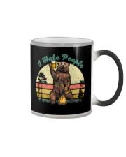 I Hate People Funny Bear Drinking Beer Camping  Color Changing Mug thumbnail