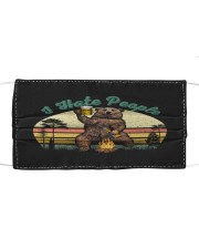 I Hate People Funny Bear Drinking Beer Camping  Cloth face mask thumbnail