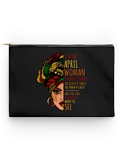 I'm A April Woman I Have 3 Sides Birthday Gift Accessory Pouch - Standard thumbnail