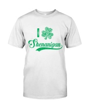 Shenanigan Irish Green Shamrock St Patrick's Day Classic T-Shirt front