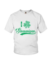Shenanigan Irish Green Shamrock St Patrick's Day Youth T-Shirt thumbnail