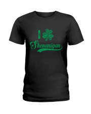 Shenanigan Irish Green Shamrock St Patrick's Day Ladies T-Shirt thumbnail